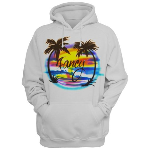 airbrushed Hoodie Fancy Graphic