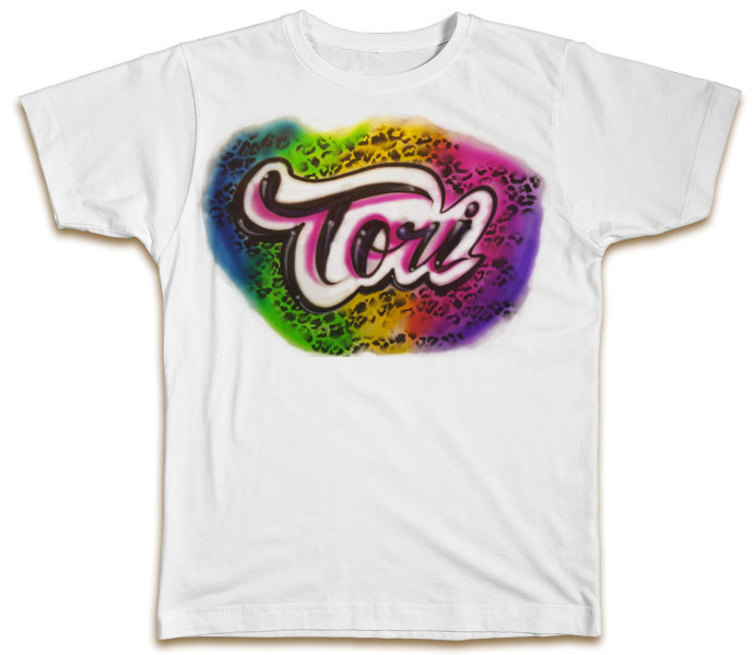 Custom airbrushed t shirt psychedelic for Custom made airbrushed shirts